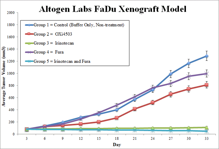 FaDu Xenograft Altogen Labs