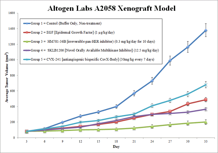A2058 Xenograft Model by Altogen Labs