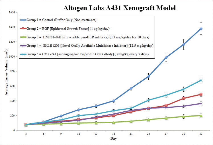 A431 Xenograft Model by Altogen Labs