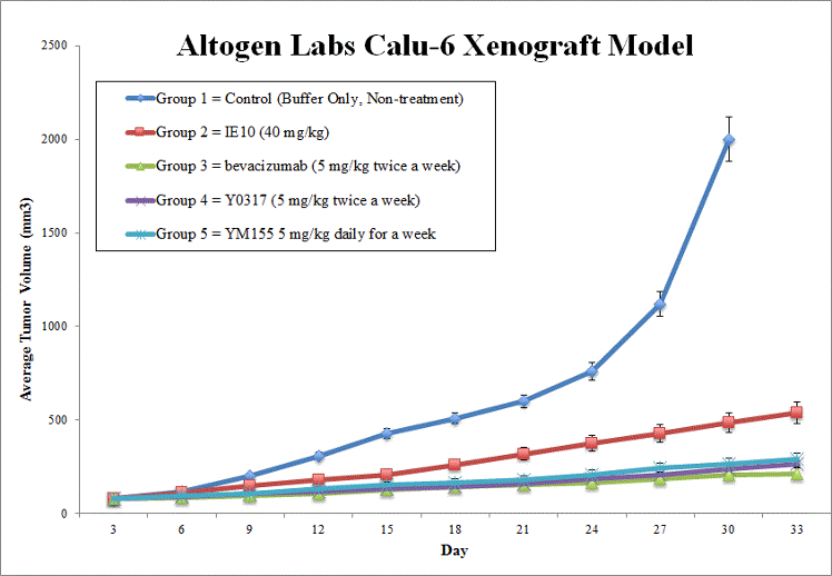 Calu-6 Xenograft Altogen Labs