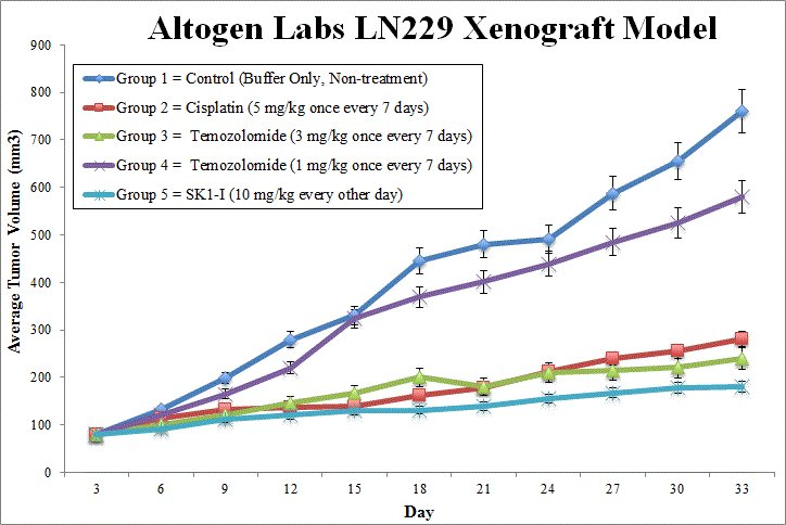 LN229 Xenograft Altogen Labs